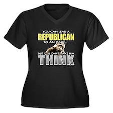 Republicans... Women's Plus Size V-Neck Dark T-Shi