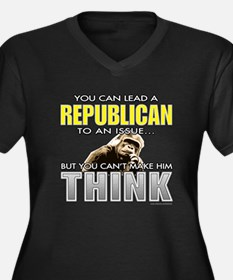 Republicans... Women's Plus Size V-Neck Dark T-Shi