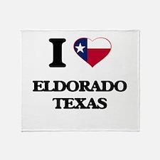 I love Eldorado Texas Throw Blanket