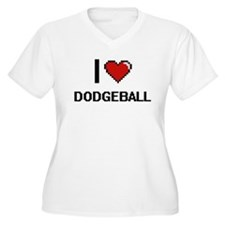 I Love Dodgeball Digital Retro D Plus Size T-Shirt
