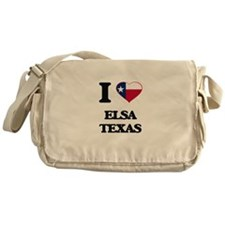 I love Elsa Texas Messenger Bag