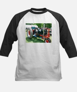 antique red tractor Baseball Jersey