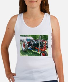 antique red tractor Tank Top