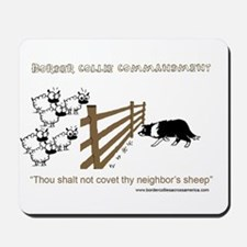 Border Collie Commandment Mousepad