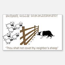 Border Collie Commandment Rectangle Decal