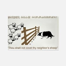 Border Collie Commandment Rectangle Magnet