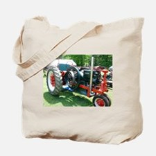 antique red tractor Tote Bag