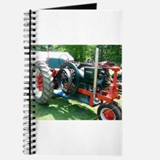 antique red tractor Journal