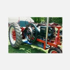 antique red tractor Magnets