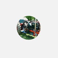 antique red tractor Mini Button