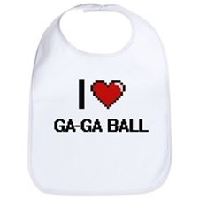 I Love Ga-Ga Ball Digital Retro Design Bib