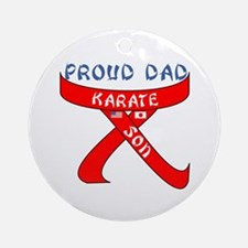 Proud Karate Dad Son Ornament (Round)