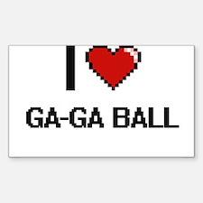 I Love Ga-Ga Ball Digital Retro Design Decal
