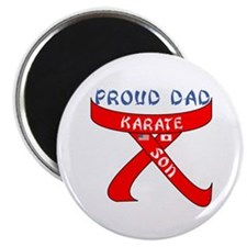 "Proud Karate Dad Son 2.25"" Magnet (10 pack)"
