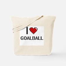 I Love Goalball Digital Retro Design Tote Bag