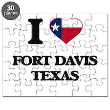 I love Fort Davis Texas Puzzle
