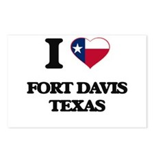 I love Fort Davis Texas Postcards (Package of 8)