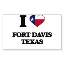 I love Fort Davis Texas Decal