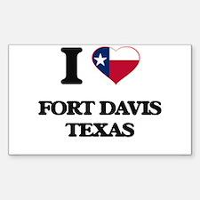 I love Fort Davis Texas Decal