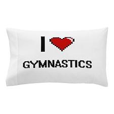 I Love Gymnastics Digital Retro Design Pillow Case