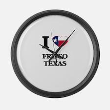 I love Frisco Texas Large Wall Clock