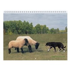 Sheep and Sheepdogs Wall Calendar