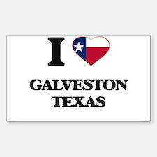 I love Galveston Texas Decal