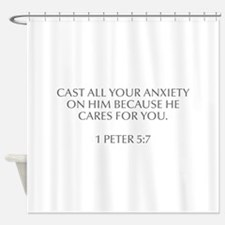 Cast all your anxiety on him because he cares for