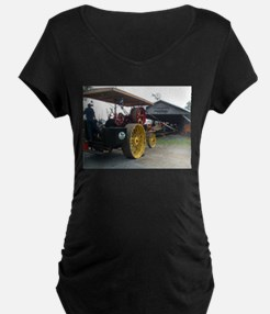 steam engine saw mill Maternity T-Shirt
