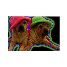 Cute Chinese shar pei Rectangle Magnet (10 pack)