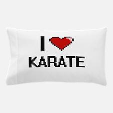 I Love Karate Digital Retro Design Pillow Case