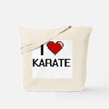 I Love Karate Digital Retro Design Tote Bag