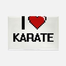 I Love Karate Digital Retro Design Magnets