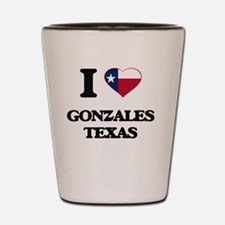 I love Gonzales Texas Shot Glass