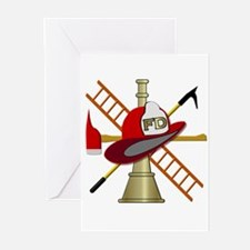 fire department symbol Greeting Cards