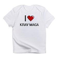I Love Krav Maga Digital Retro Desi Infant T-Shirt