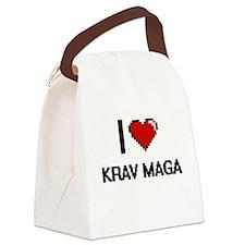 I Love Krav Maga Digital Retro De Canvas Lunch Bag