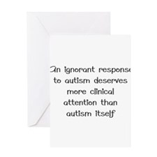 Autism response Greeting Cards