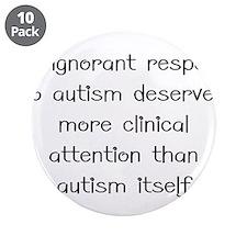 "Autism response 3.5"" Button (10 pack)"