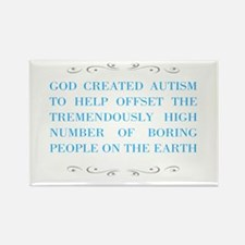 God and autism Magnets