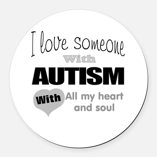 Love and autism Round Car Magnet