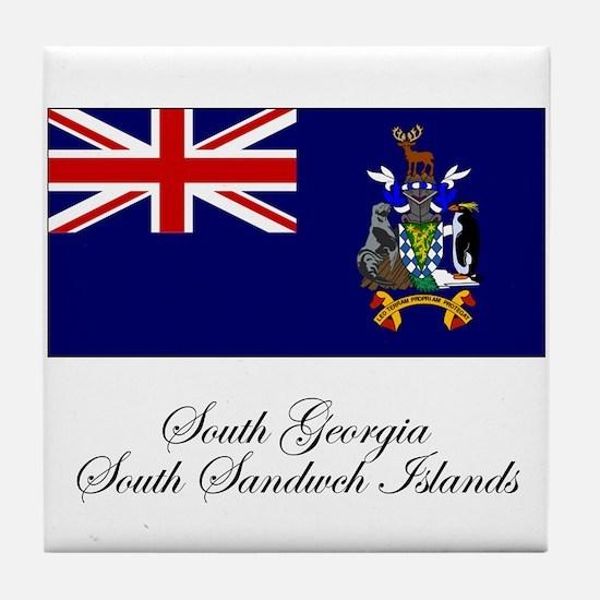 South Georgia and South Sandw Tile Coaster