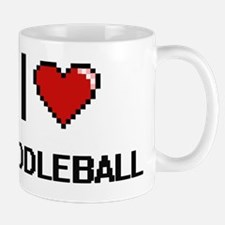 I Love Paddleball Digital Retro Design Mug