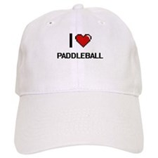 I Love Paddleball Digital Retro Design Baseball Cap