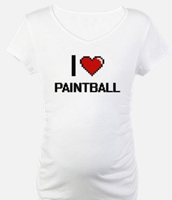 I Love Paintball Digital Retro D Shirt