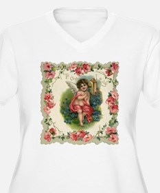 Vintage Valentine's Day Cupid Plus Size T-Shirt