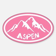 Aspen Hand Drawn Sticker (oval)
