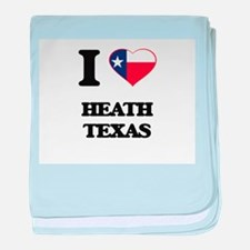I love Heath Texas baby blanket