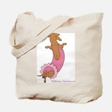Ballerina Doxie (Red) Tote Bag