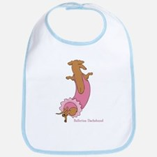 Ballerina Doxie (Red) Bib